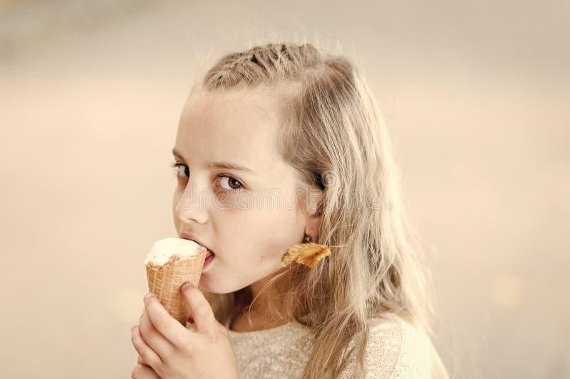 Messy Baby Eating Ice Cream Cone — Stock Photo © Christin