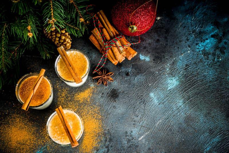 Licor da gemada do Natal foto de stock