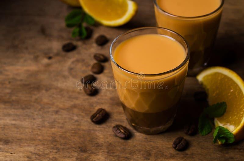 Licor de café cremoso foto de archivo