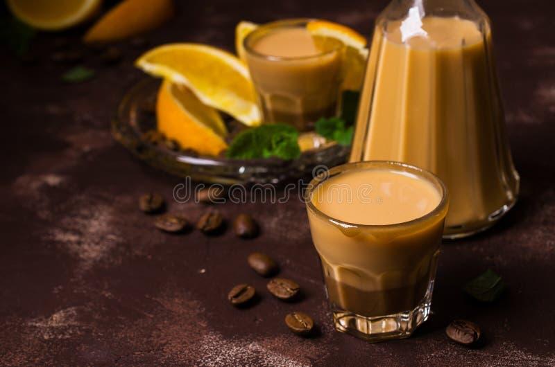 Licor de café cremoso fotografía de archivo