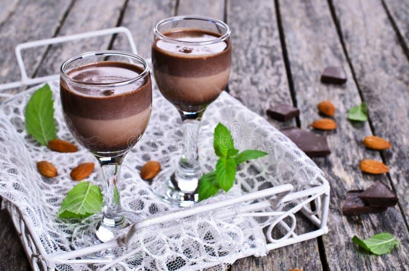 Licor del chocolate fotografía de archivo