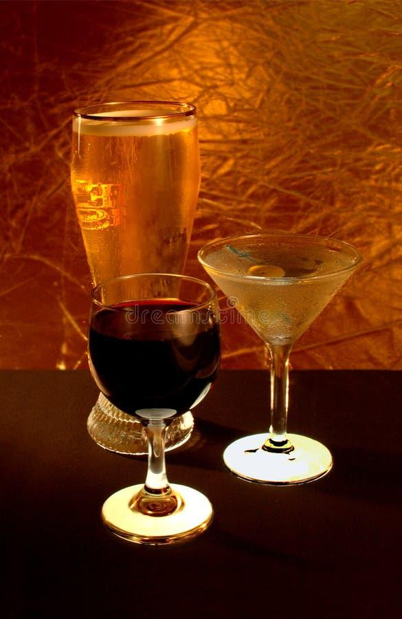 Licor, vinho, & cerveja imagens de stock royalty free