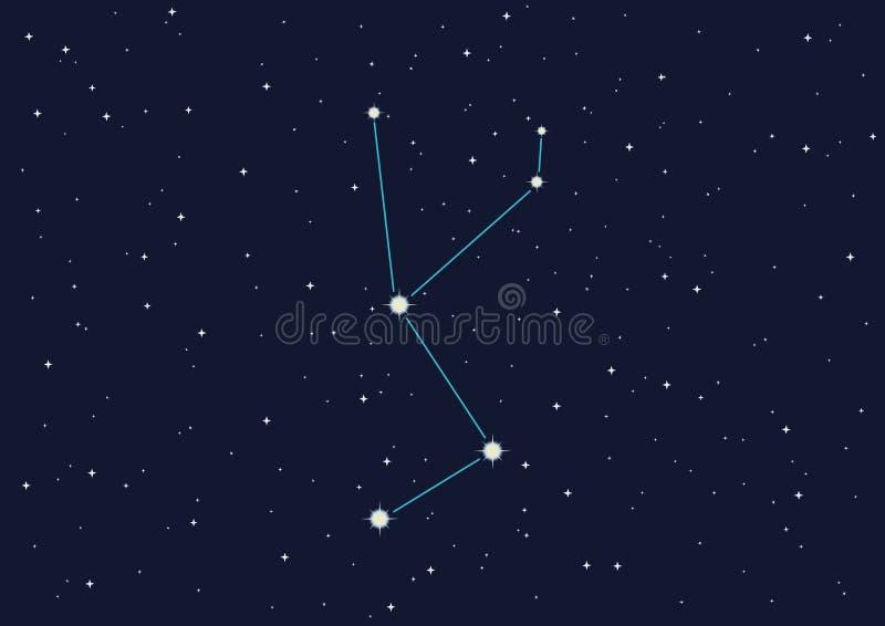 licorne de constellation illustration libre de droits