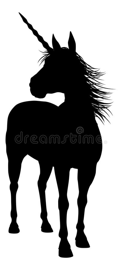 Licorne de silhouette illustration stock