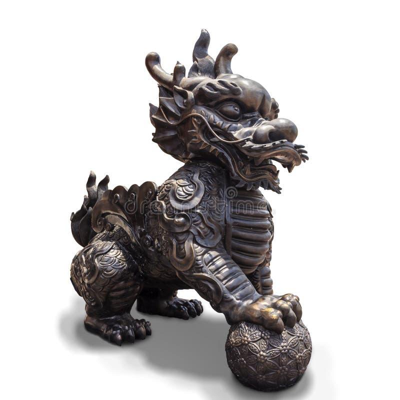 licorne Dragon-dirigée photo libre de droits