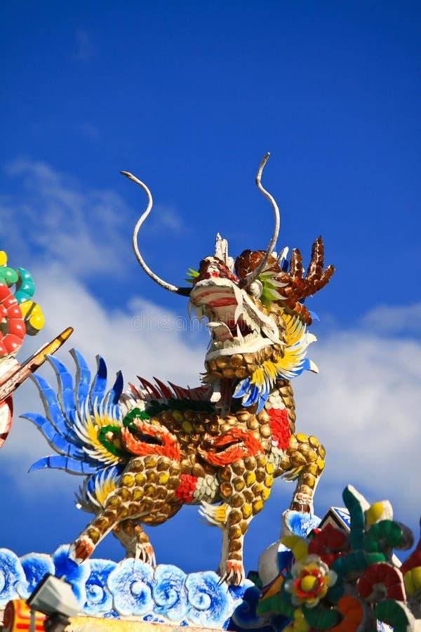licorne Dragon-dirigée photos stock