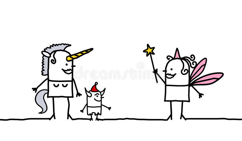 Licorne et fée illustration libre de droits