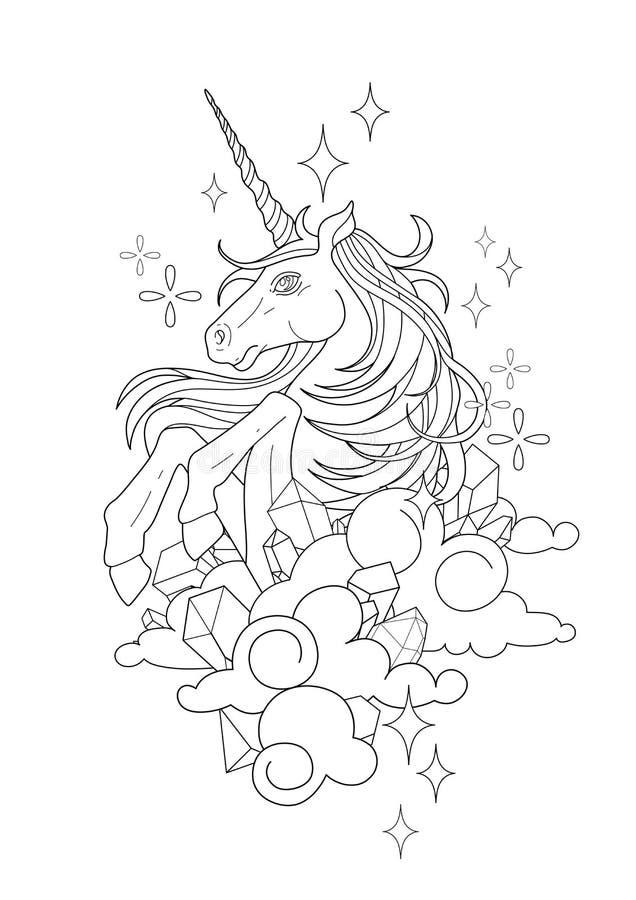 Licorne graphique mignonne illustration stock
