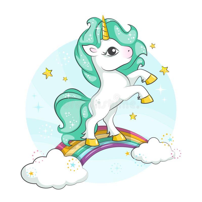 download licorne magique mignonne petit poney illustration de vecteur illustration du folklore illustration - Poney Licorne