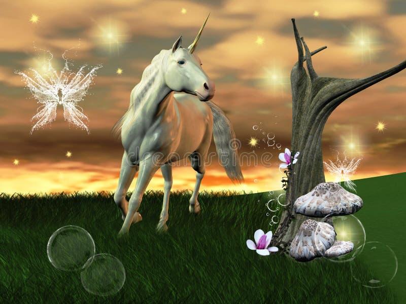 Licorne merveilleuse illustration stock