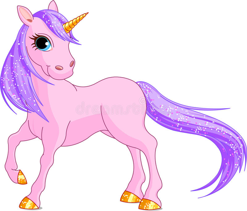 Licorne rose illustration stock