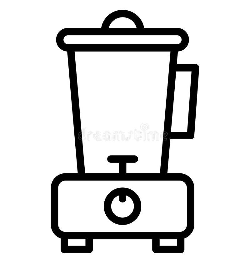 Licuadora, icono aislado procesador de alimentos del vector que puede ser corregido fácilmente en cualquier tamaño o ser modifica stock de ilustración