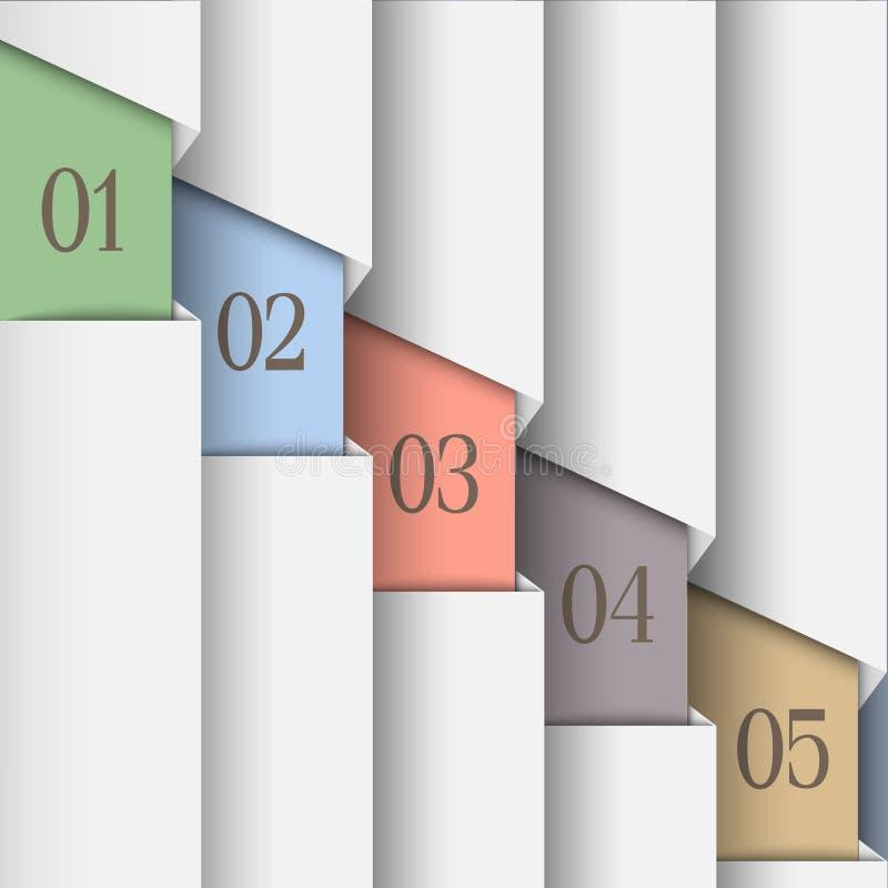 Liczący biały papier sztandary ilustracji
