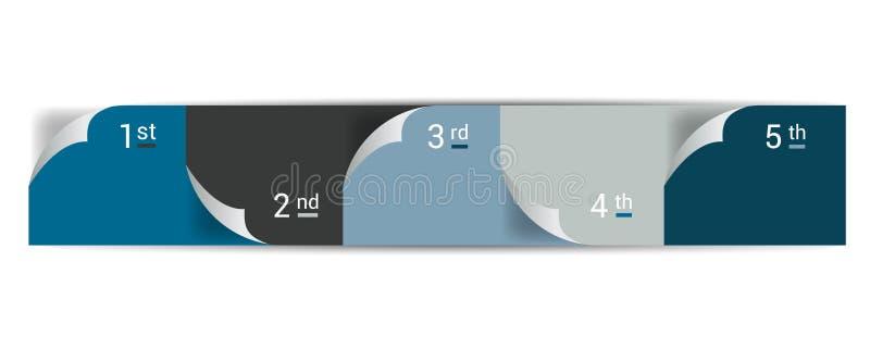 Liczący krok po kroku diagram Infographic mieszkania zakładka ilustracji