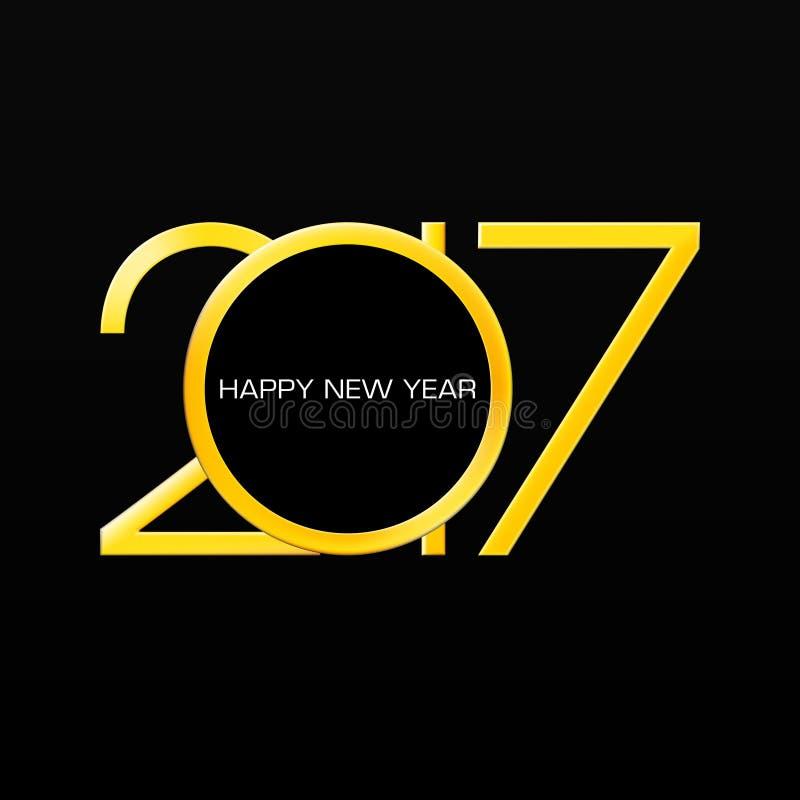2017 liczb nowy rok na czarnym gradientowym tle royalty ilustracja