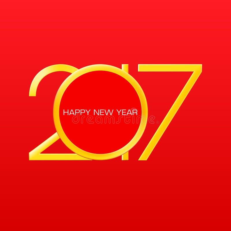 2017 liczb nowy rok na czerwonym gradientowym tle ilustracji
