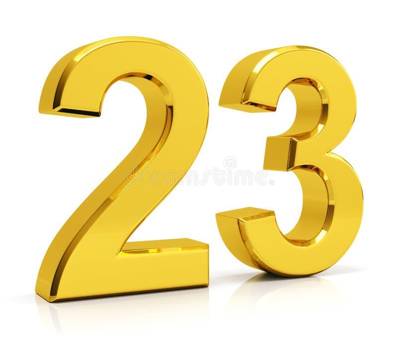 Liczba 23 ilustracja wektor