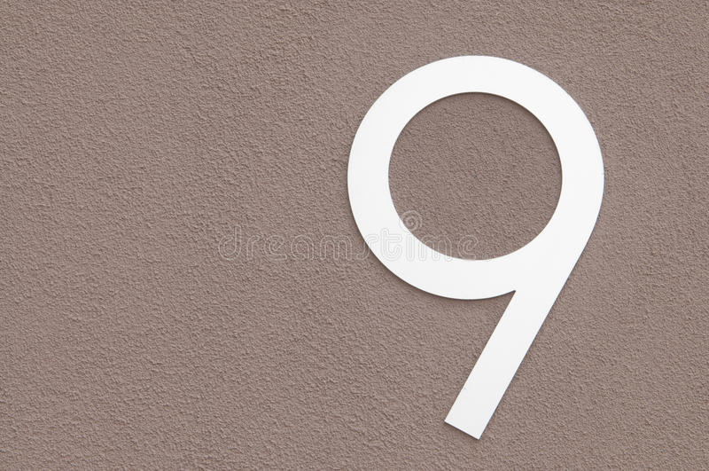 Liczba 9 fotografia stock