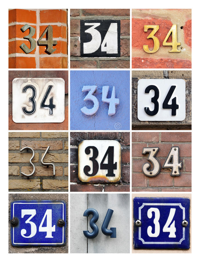 Liczba 34 zdjęcie royalty free
