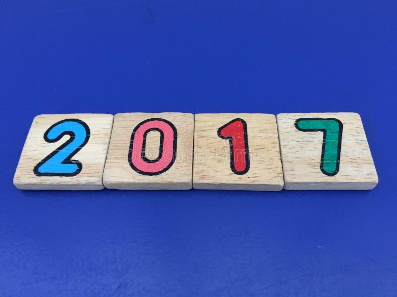 Liczba 2017 zdjęcia stock