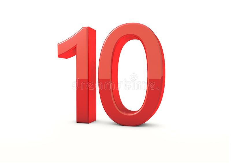 Liczba 10 royalty ilustracja
