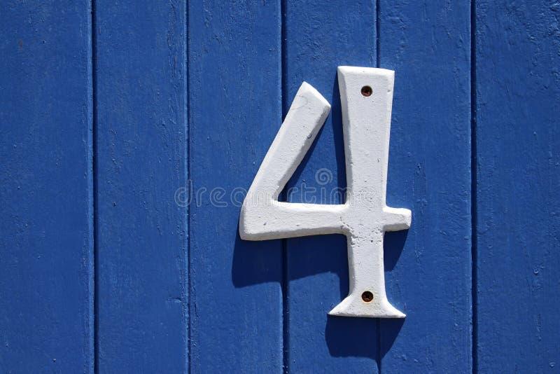 Liczba cztery fotografia royalty free