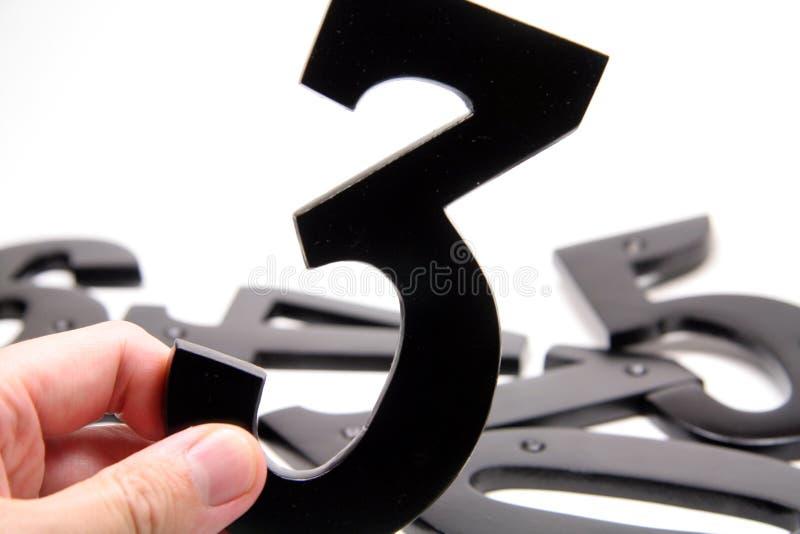 liczba gospodarstw 3 rąk zdjęcie stock