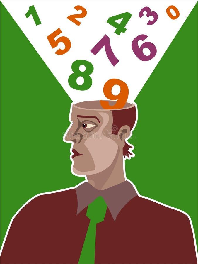 liczba mózgu ilustracja wektor
