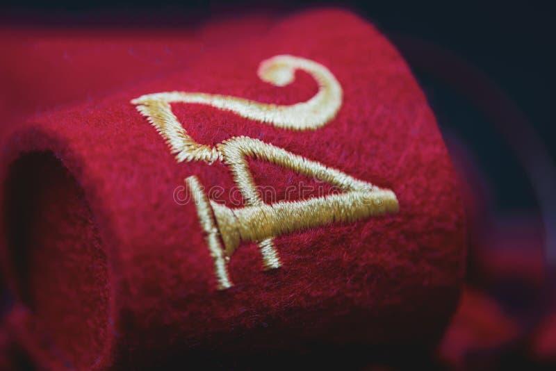 Liczba 24 na czerwieni denote wigilię obraz stock