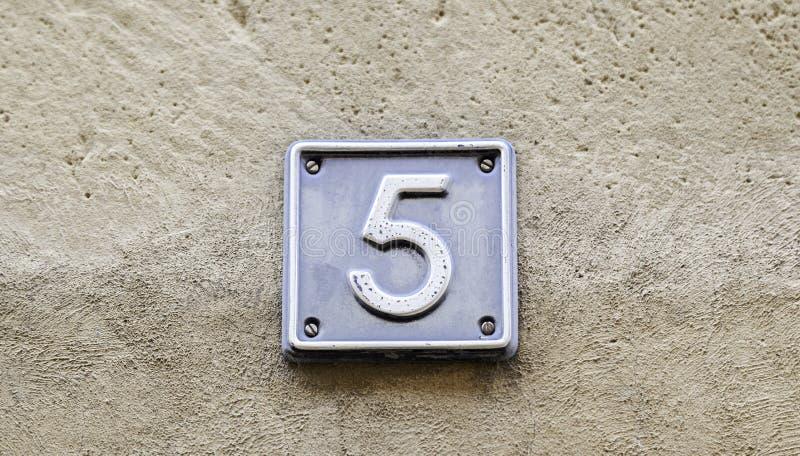 Liczba pięć zdjęcie stock