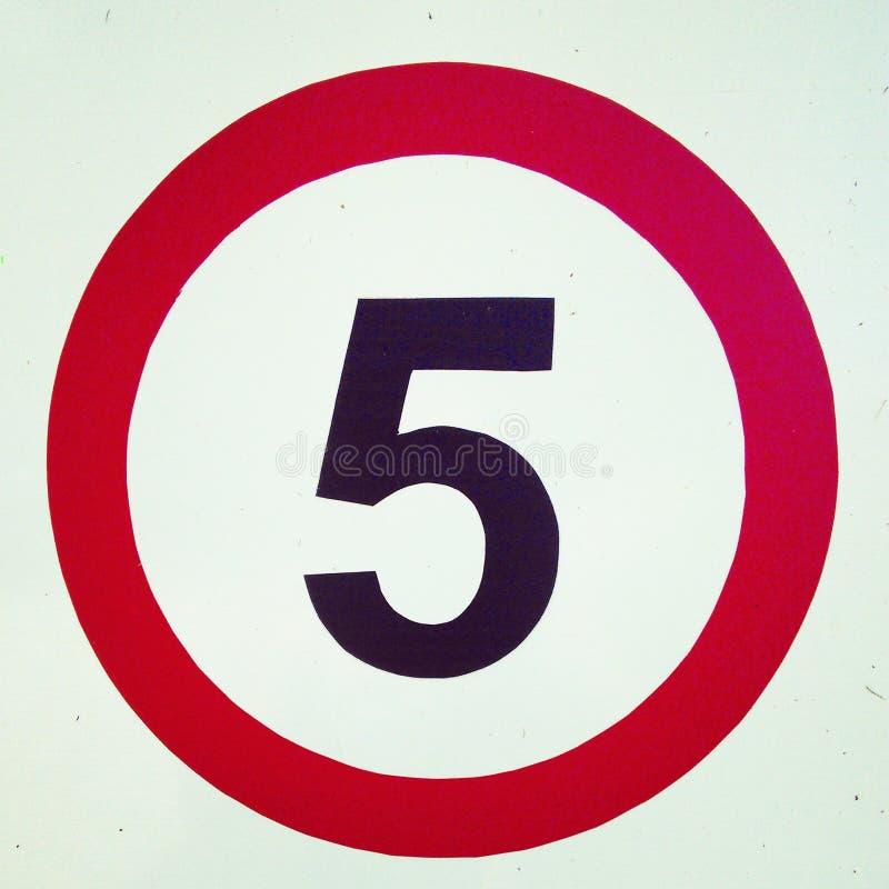 Liczba pięć zdjęcia royalty free