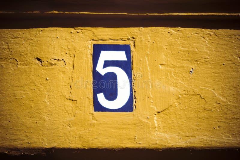 Liczba pięć fotografia royalty free
