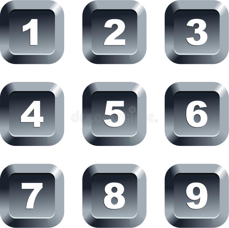 liczba przycisk ilustracji