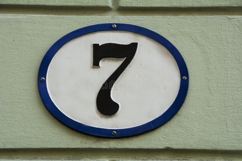 Liczba Siedem zdjęcia royalty free