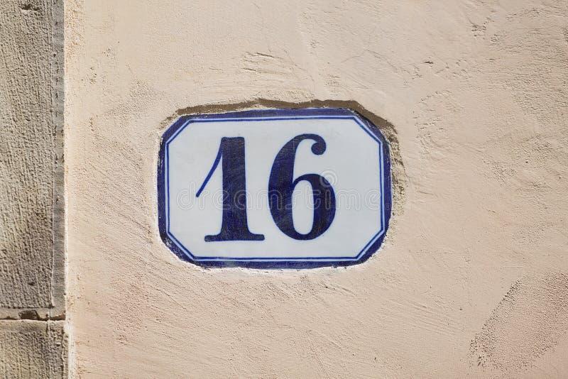 Liczba szesnaście obrazy stock