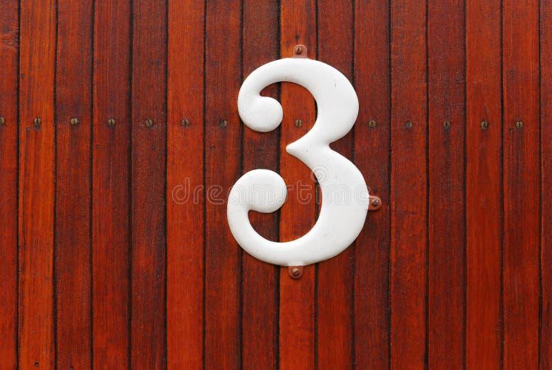 Liczba trzy zdjęcie royalty free