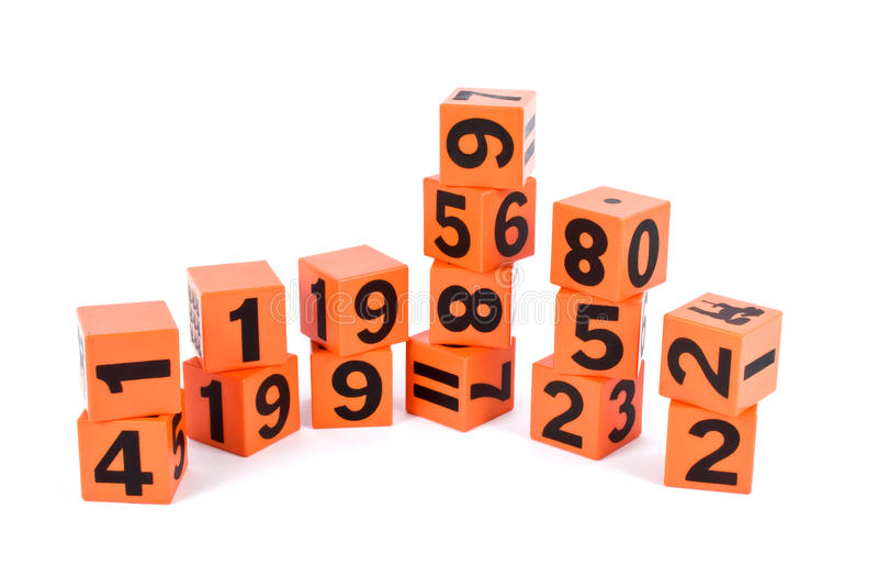 liczba znak zdjęcia stock