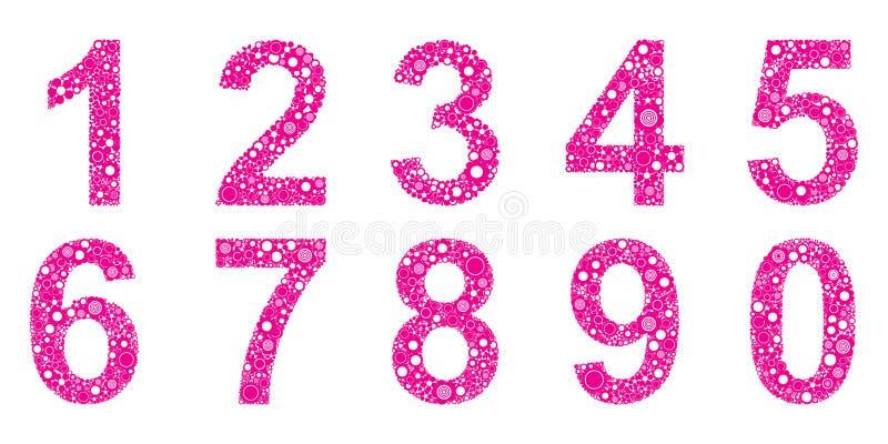 liczby royalty ilustracja