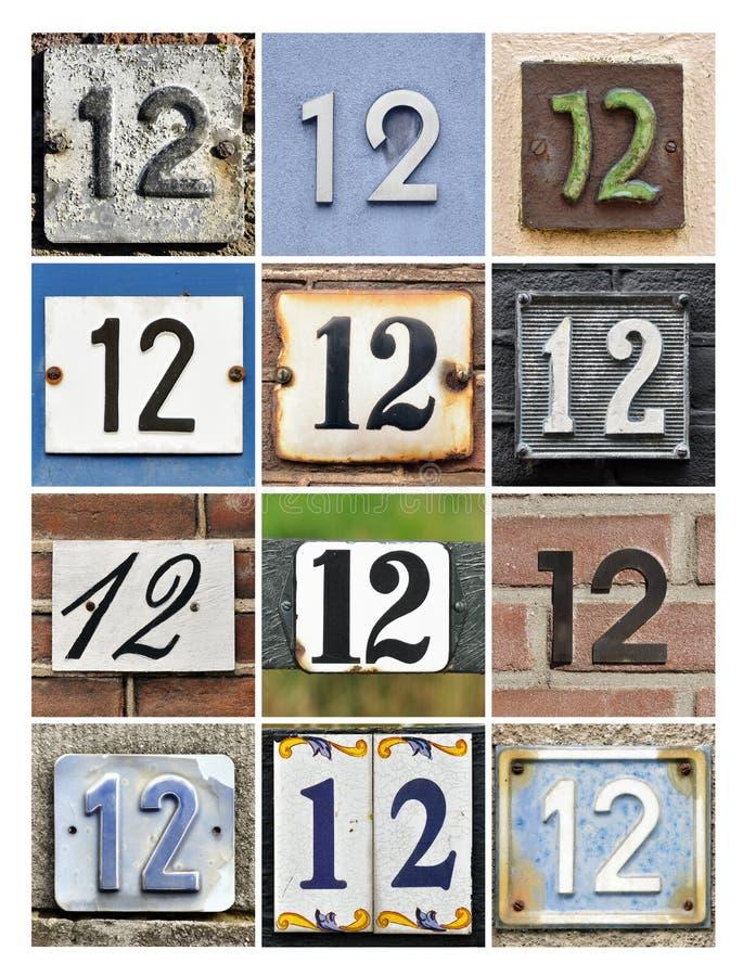 Liczby Dwanaście fotografia royalty free