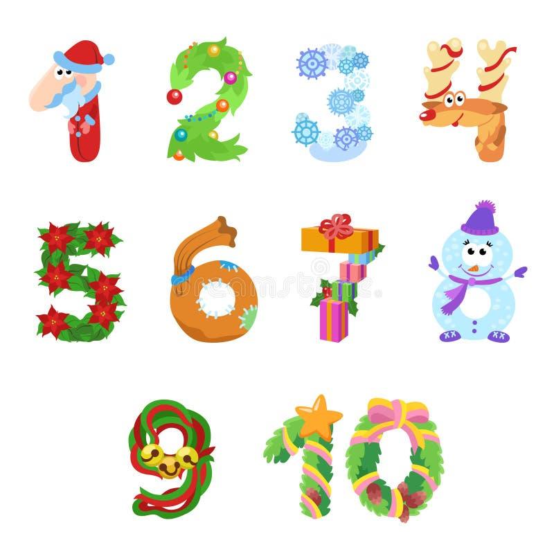 Liczby jak symbole boże narodzenia zdjęcia stock