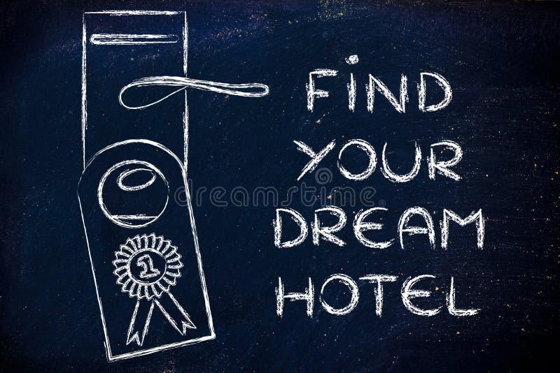 Liczby jeden best dylowy: znajduje twój wymarzonego hotel fotografia stock