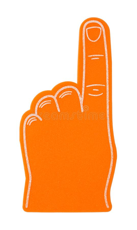 Liczby Jeden palca Z powrotem Piankowa strona zdjęcia stock