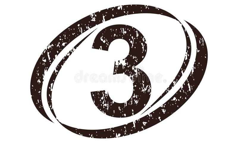 Liczby 4 Szorstki logo ilustracja wektor