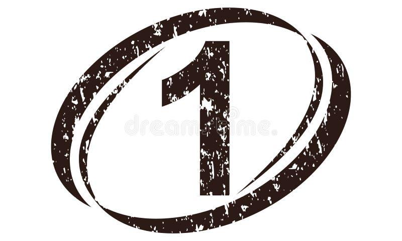 Liczby 1 Szorstki logo ilustracji