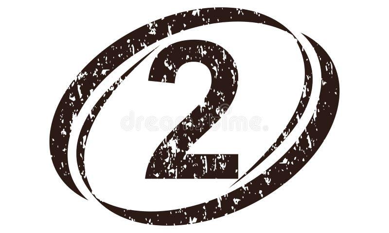 Liczby 2 Szorstki logo ilustracja wektor