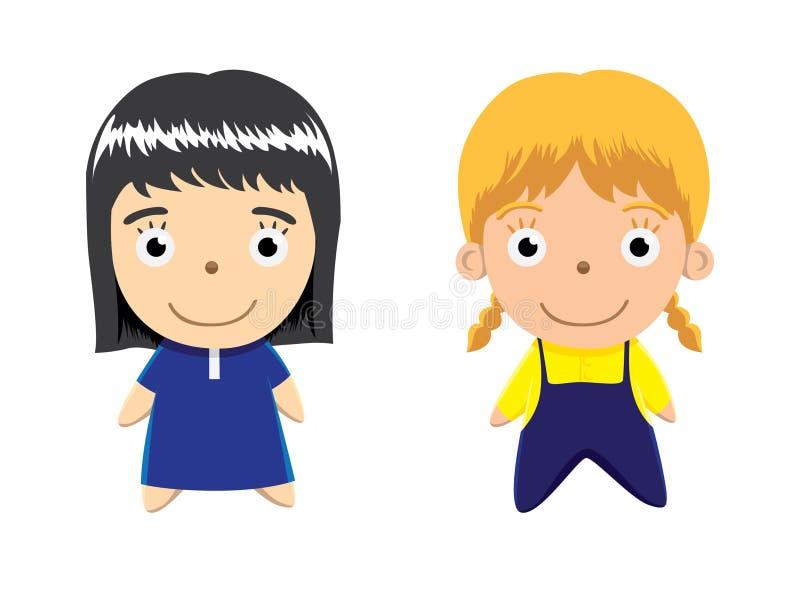 Download Śliczna Lali Dziewczyny Wektoru Ilustracja Ilustracja Wektor - Ilustracja złożonej z dzieciak, wektor: 57667072