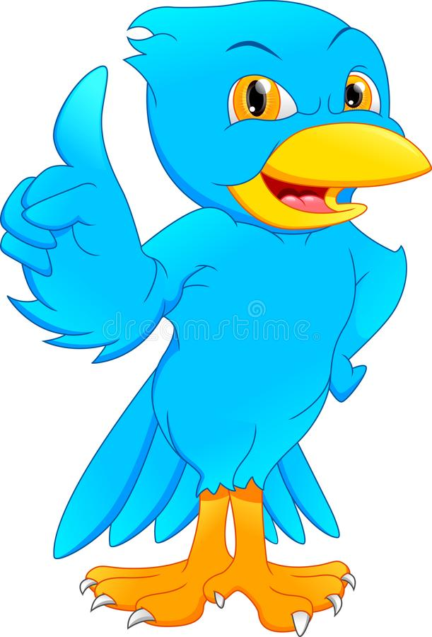 ?liczna ptasia kresk?wka royalty ilustracja