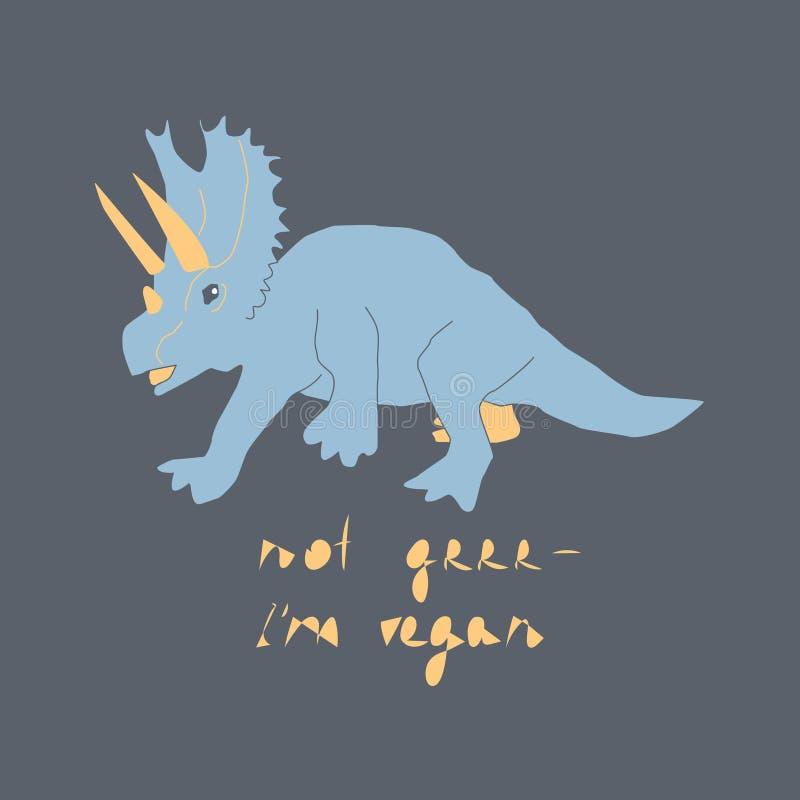 ?liczna r?ka rysuj?cy dinosaura koloru wektorowy charakter royalty ilustracja