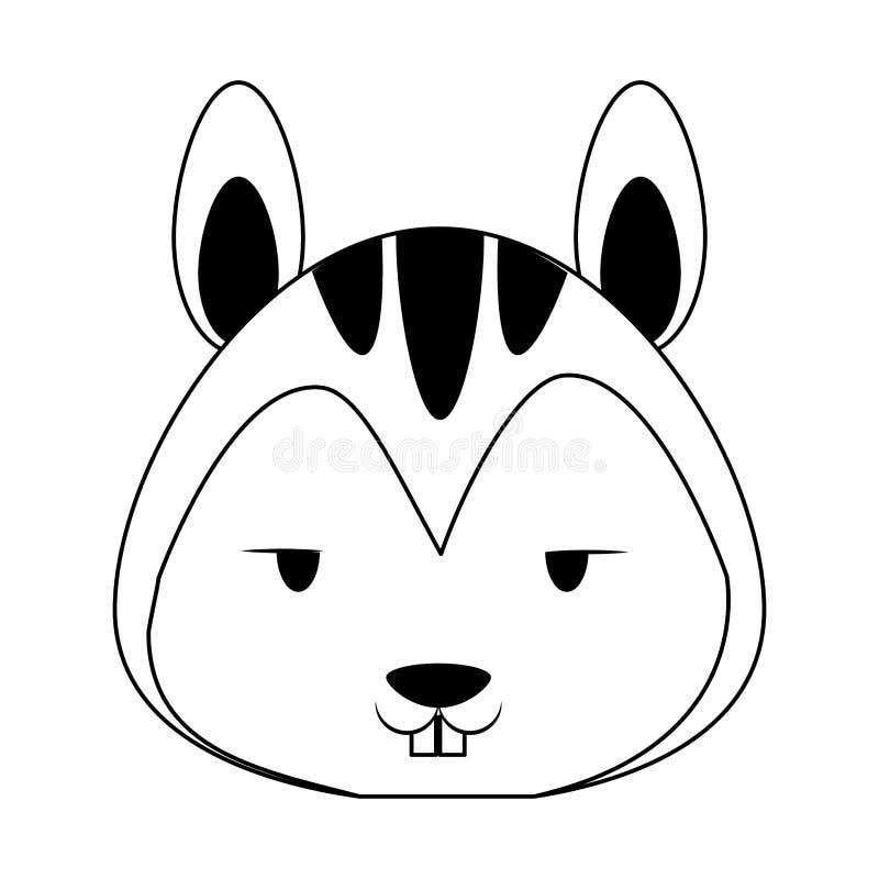 ?liczna wiewi?rcza zwierz?ca kresk?wka w czarny i bia?y royalty ilustracja