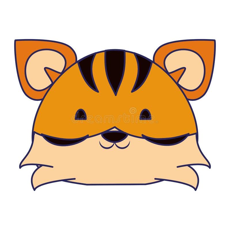 ?liczne tygrysie zwierz?ce kresk?wek niebieskie linie ilustracji